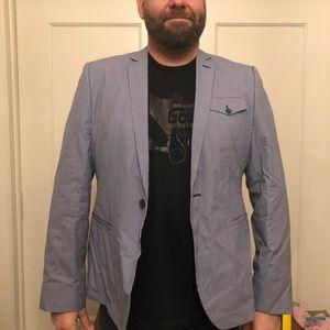 Ben Sherman blue gingham blazer
